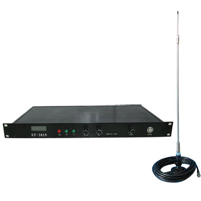 Новий 15w FM-передавач ST-2815 Регульована потужність KIT 2w / 8w / 15w Wireles Мікрофон + CA200 автомобіля Sucker Антена