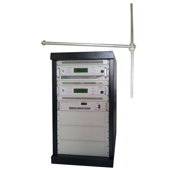 CZH618F-1KW 1000w 1kw RACK FM Sendandi útvarp útvarpsþáttur sendandi faglega fyrir FM útvarp stöð + FU-DV1 tvípóla FM loftnet + 30m 1 / 2'' CABLE