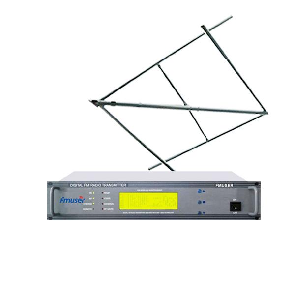FMSUER CZH618F-100 واٹ 100 واٹ 2U ایف ایم سٹیریو ریڈیو ٹرانسمیٹر سرکلر پولرائزڈ اینٹینا + 15 میٹر کیبل