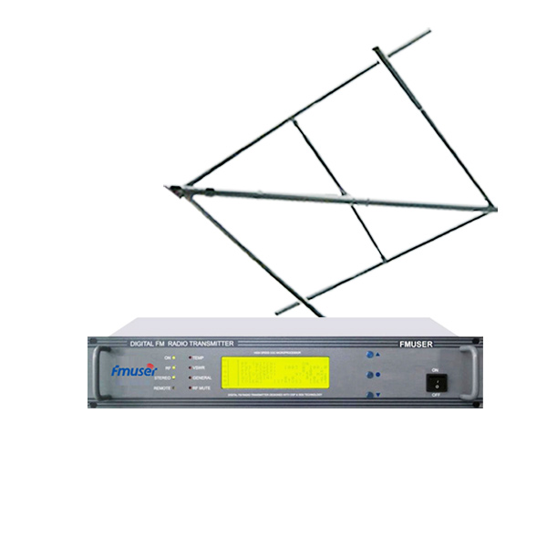 FMUSER CZH618F 30W 2U Profesjonell FM-sender CD-kvalitet Broadcasting LCD Displayer + Sirkulær Polarisert Antenne Kit for FM-radiostasjon