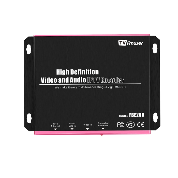 FMUSER H.264/H.265 HDMI HEVC IPTV Encoder, HD Video Encoder, Support HLS M3U8 ffmpeg VLC, ​HTTP RTSP RTMP RTMPS UDP ONVIF for Youtube, Facebook, Wowza Live Streaming, LAN Connection