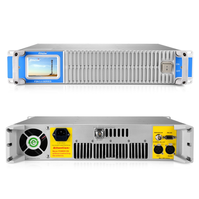 FMUSER FSN-1000T 1000Watt 1KW Transmissor de transmissão de rádio FM com tela de toque para estações de rádio FM