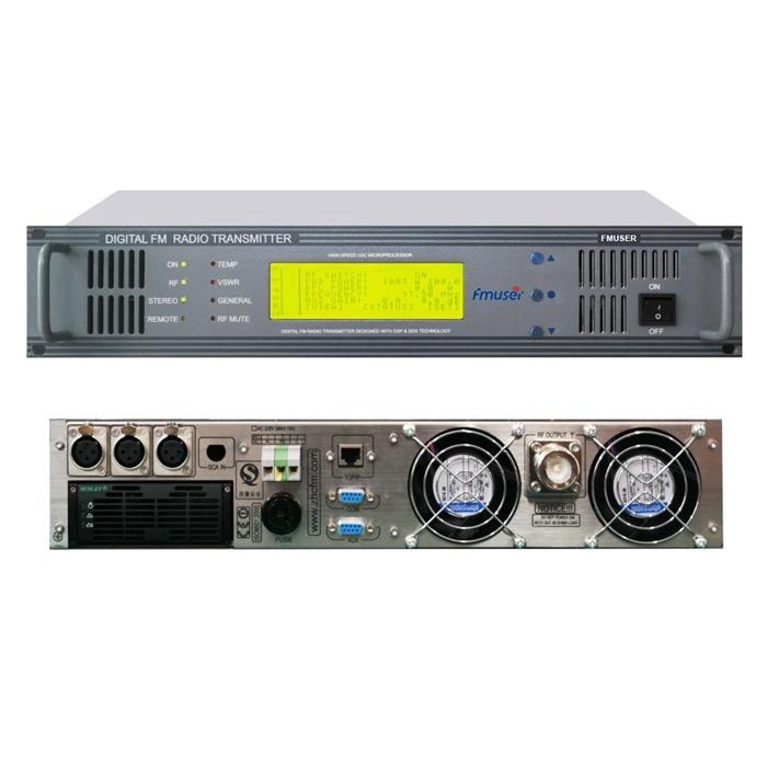 FMUSER FU618F-500C Professional 500Watt Pemancar FM Pemancar Radio Siaran FM untuk Stasiun Radio FM