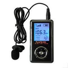 FMUSER pureFM-980 mini FM radio transmetues Stereo / transmetues MONO LCD fuqia rregullueshme të lejojë FCC për ngarje shkollë