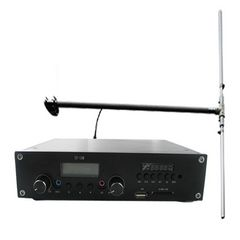 FMUSER ST-15M MP3 USB Drive 15W FM transmiter PLL Stereo Radio Broadcaster 1 / 2 wave dipole antena KIT