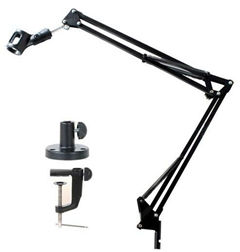 MICROPHONE Mic STAND Holder Bracket Double BOOM ARM 360 degrees paikutin NB-35