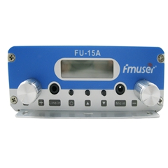 FMUSER FU-15A 15W FM Radio Transmitter Low Power PLL FM Broadcast Transmitter FM Exciter 1.5w/15w Adjustable for Samll Radio Station CZH-15A CZE-15A
