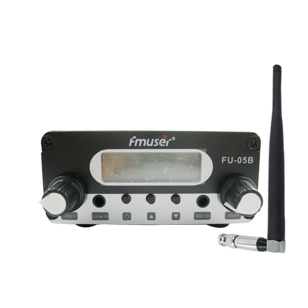 FMUSER FU-05B 0.5w FM радио предавател Indoor Antenna Rubber Package