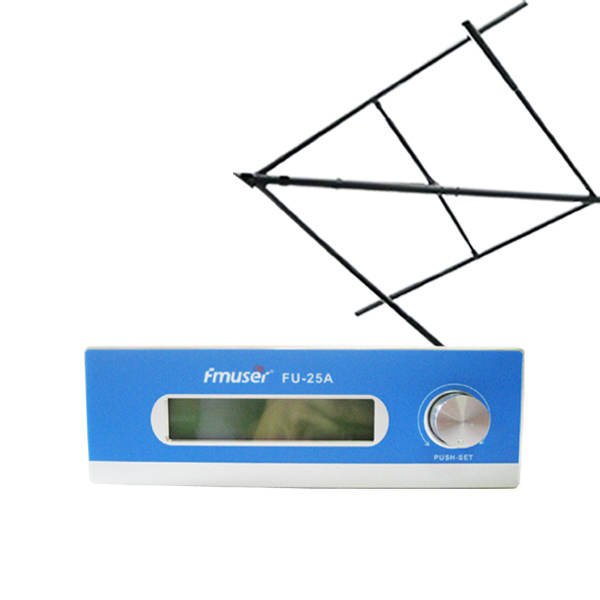 FMUSER FU-25A CZE-T251 CZH-T251 25W FM Transmitter 0-25w Mono/Stereo adjustable Excellent sound quality+Circular Polarized Antenna for FM radio station