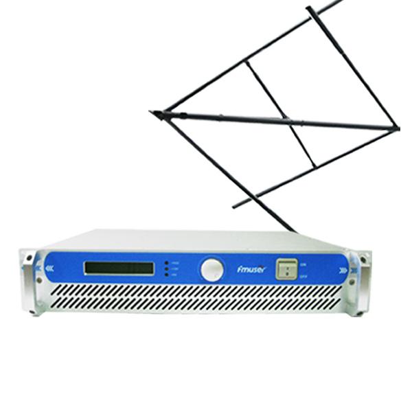 FMUSER FSN-150T 100W 150W 2U Profesionalni FM-oddajni radijski oddajnik + CP100 krožna polarizirana antena + 20m SYV-50-7 kabel