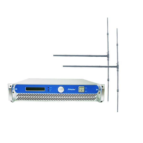 FMUSER FSN-350 300w 350w 2U Professional FM BroadcastRadioTransmitter exciter + 2 bay Dipoliantenni + 20M 1 / 2 '' CABLE