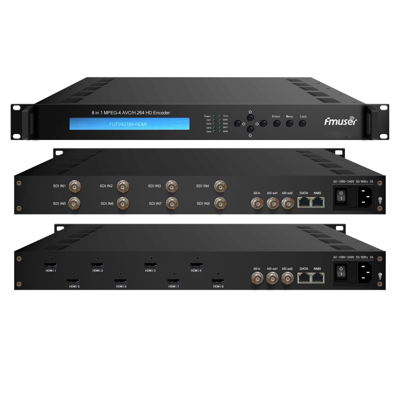 FMUSER FUTV4318A HDMI 8 į 1 MPEG-4 AVC / H.264 HD Encoder