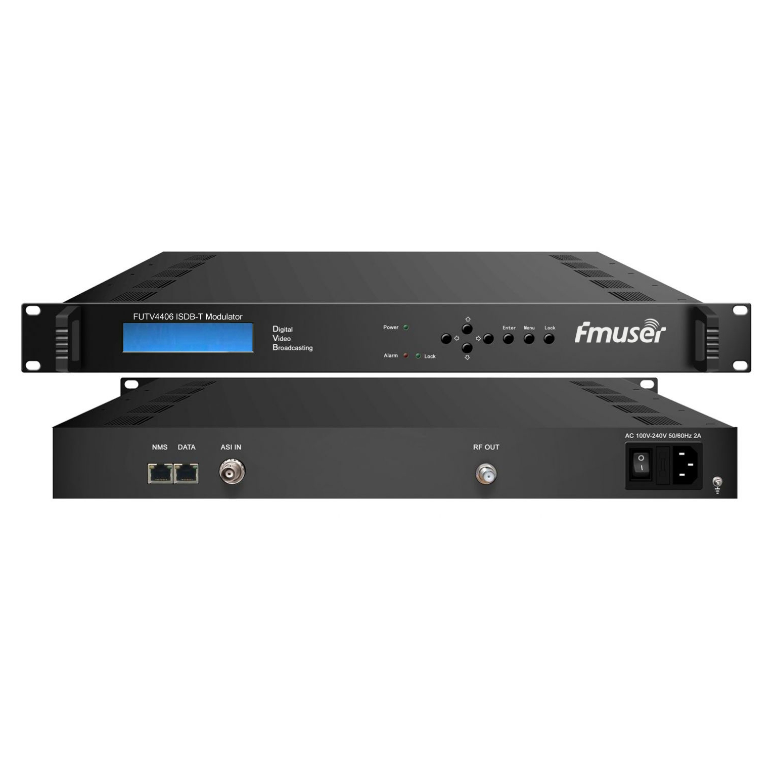FMUSER FUTV4406 IP ISDB-T Moduliatorius (1000M TL 4 * TL, 4 * TL iš) su tinklo valdymo