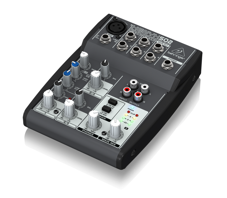 FMUSER USB High Quality Audio Mixer XENYX 502 Premium 5-Input 2-Bus Mixer með XENYX Mic preamp og British EQ