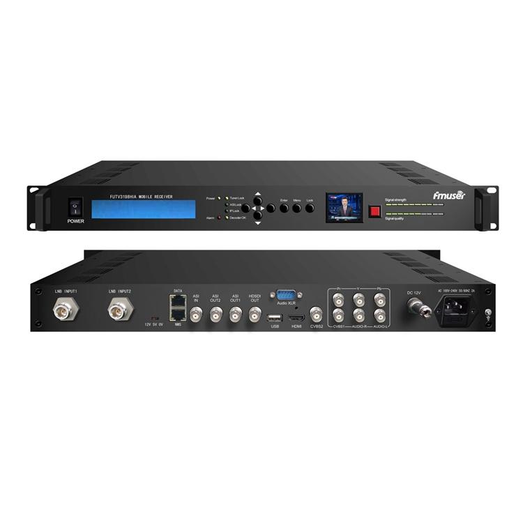 FMUSER FUTV-3198HIA Hidup Berita Wawancara Ponsel HD Camera UHF COFDM DVB-T Decoder HDMI SDI MPEG2 / H.264 Receiver untuk OB kendaraan ip keluar