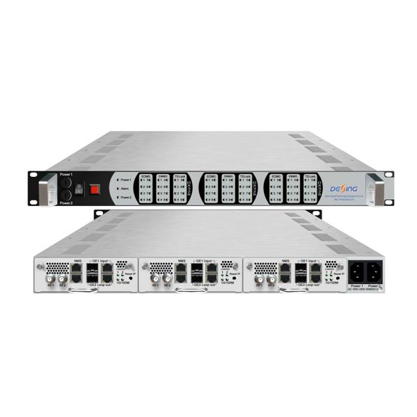 FMUSER FUTV438 256 Х 3 IP-MPTS / SPTS мультиплексирования схватка 8 Х 3 DVB-C QAM модулятор Из 3 с модуля 24 частот