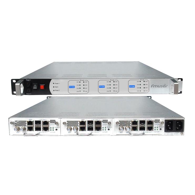 FMUSER FUTV438A 256 3 X IP MPTS / SPTS multiplexação Scramble 8 3 X 8VSB Fora ATSC modulador