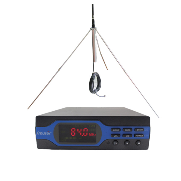 FMUSER FU-X01BK2 Prijenosni 1W FM odašiljač FM radio odašiljač niske snage + GP antena (16G TF kartica + Bluetooth) za ulaz u kino / sastanke / sportske događaje / 300m 1000Feet Church Parking