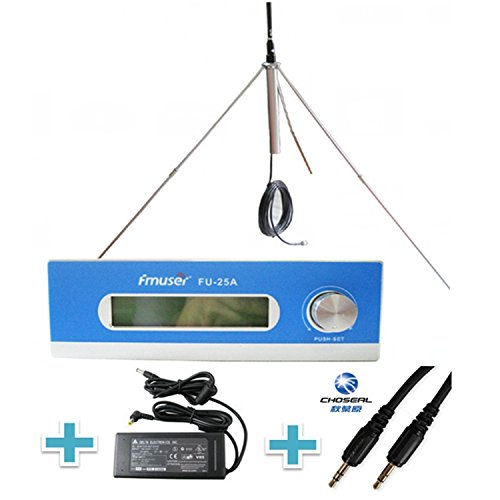 FMUSER Long Range 25W FM transmiter na may Antenna, Kumpletong Set para sa Community FM Radio Station, 0-25w Radio Broadcast Transmitter, 87-108mhz