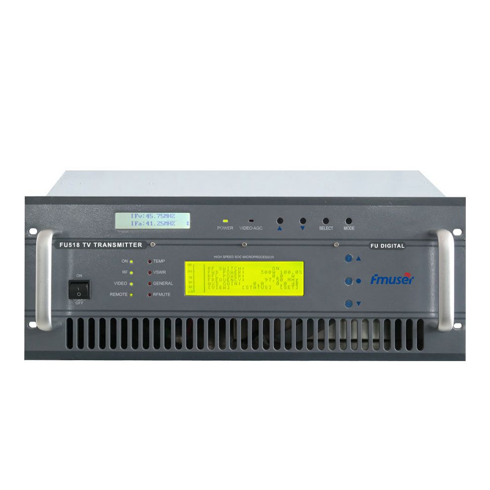 Professional TV Station üçün CZH518D-50W 50w DVB-T Digital TV ərazi Broadcast Transmitter
