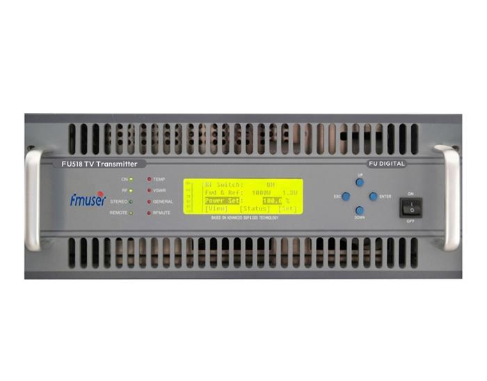 """""""FMUSER FU518A-500W"""" 500 vatų analoginis televizijos siųstuvas, skirtas """"TV Station 4U Rack"""""""