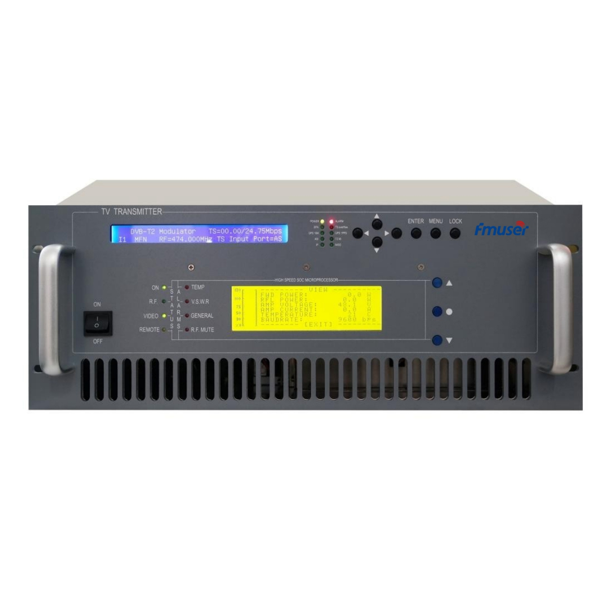 FMUSER FU518D-300W 300w DVB-T Digital TV Territorial Broadcast Transmitter (DVB-T/T2/ATSC/ISDB-T) For Professional TV Station