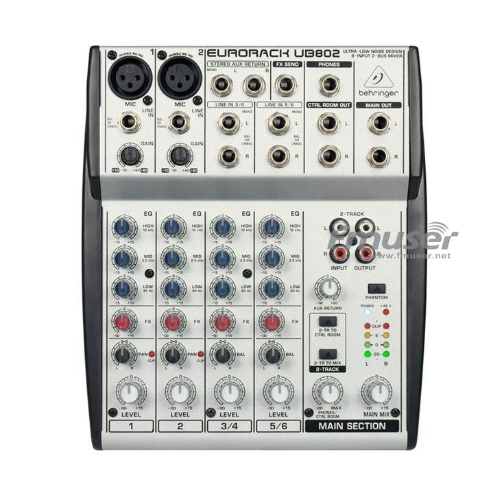 FMUSER Beringer EURORACK UB802 Audio Mixer