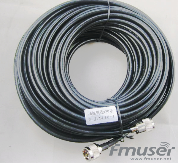 FMUSER SYV-50-5 RF Cable FM Antenna Feeder Cable 30 Meters