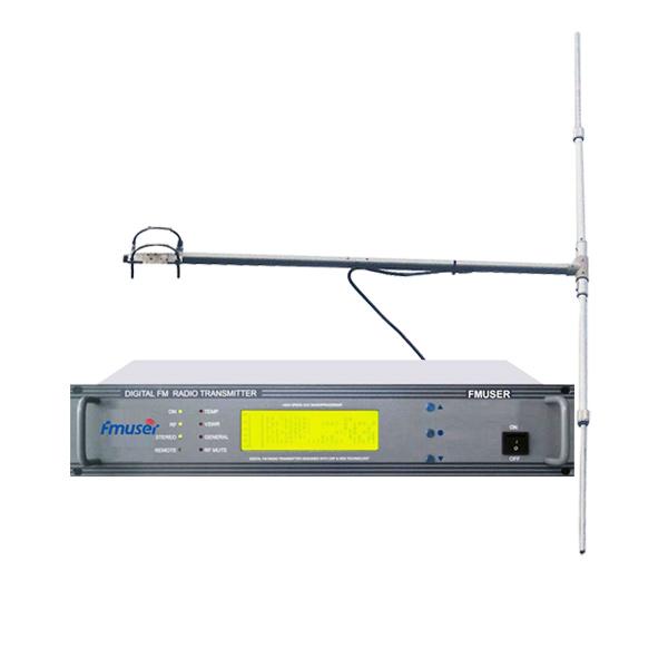 FMUSER CZH618F 30W 2U Professional FM oddajnik + DP100 1/2 valovni dipolni antenski komplet za FM radijsko postajo / vstop v cerkveno storitev / kino / parkirišča
