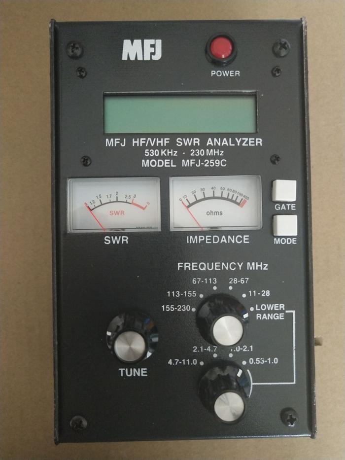 FMUSER MFJ-259C 0 53MHz-230MHz SWR Antenna Analyzer