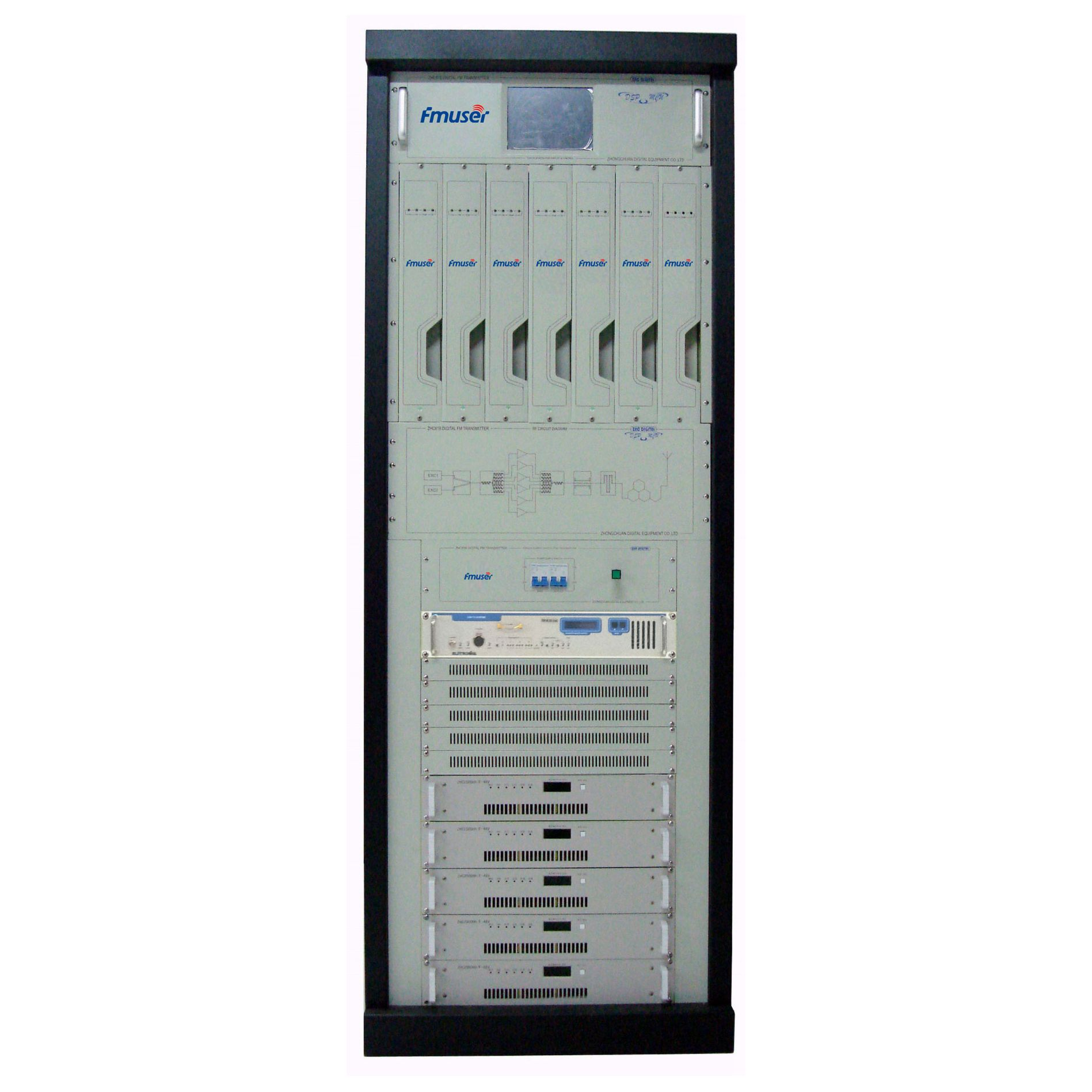 FMUSER CZH518A-5KW 5KW 5000w 아날로그 텔레비젼 전송기 텔레비젼 방송국을위한 직업적인 VHF / UHF 아날로그 텔레비젼 전송기