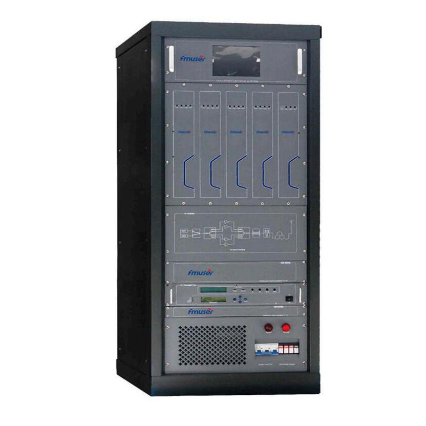 FMUSER FU518D-1kW 1kw 1000w DVB-T Digital TV Territorial Broadcast Transmitter Television Numerique Terrestre TNT (DVB-T / ATSC / ISDB-T) Para sa Professional TV Station RS485 / 232 MCU Control