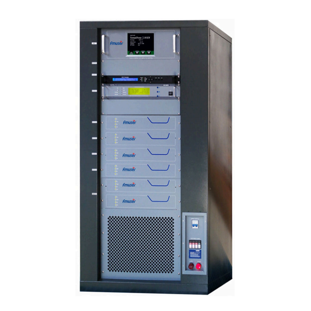 FMUSER FU518D-2KW 2000w DVB-T Թվային հեռուստատեսային տարածքային հեռարձակման հաղորդիչ Հեռուստատեսության Numerique Terrestre TNT RS485 / 232 MCU հսկողություն պրոֆեսիոնալ հեռուստաընկերության համար