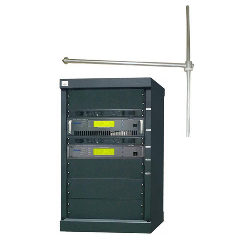 """فرستنده رادیویی FMUSER FU618F-1KW حرفه ای 1000 وات 1 کیلو وات RACK FM فرستنده رادیویی FM + آنتن FM FU-DV1 + قطر + 30 متر 1/2 """"کابل برای ایستگاه رادیویی FM"""