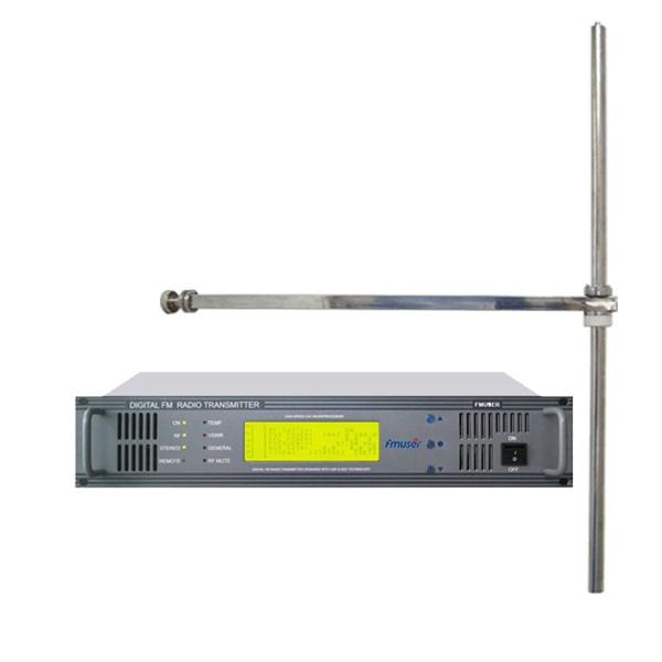 FMUSER FU618F-500C Trasmettitore FM professionale da 500 Watt Trasmettitore radio FM + Antenna dipolo FM-DV1 per stazione radio FM