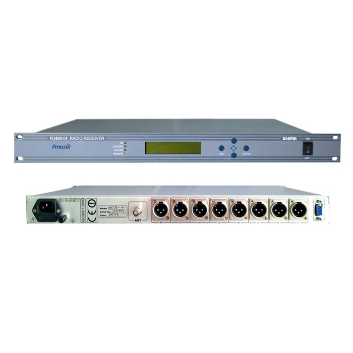 FMUSER FU468-04 Profesional 4 Channel FM Demodulator Program Radio FM Untuk Pemancar Sinyal FM FM Repeater