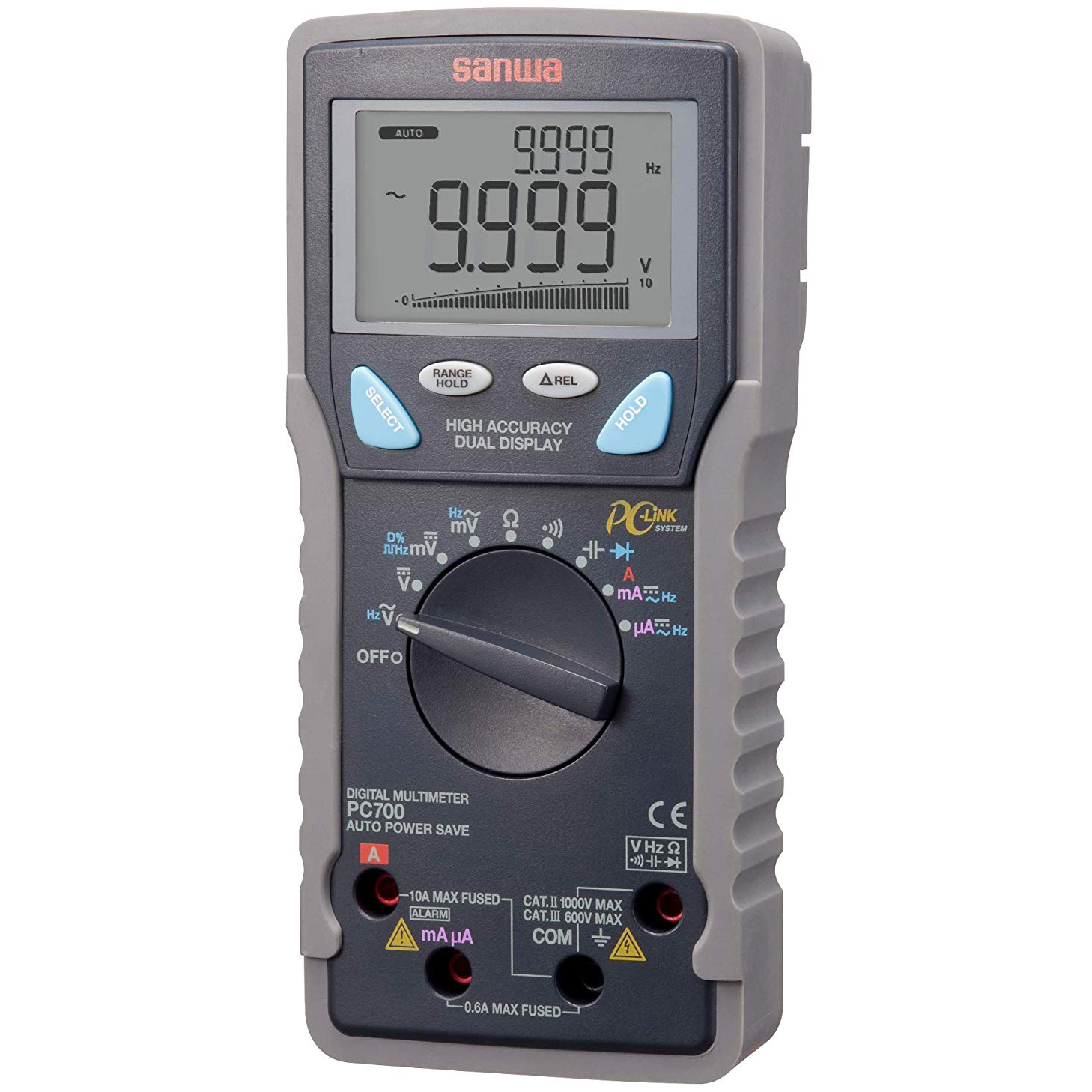 FMUSER SANWA PC700 Advanced Intelligent Digital Multimeter Vollüberlastungsschutz für die PC-Kommunikation