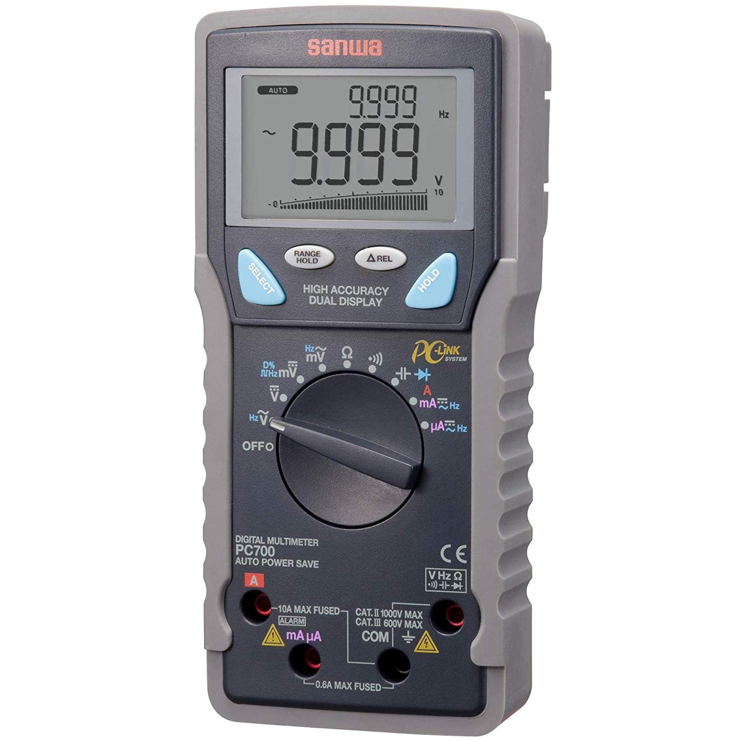 FMUSER SANWA PC700 Multímetro digital inteligente avanzado Protección completa contra sobrecarga para la comunicación con PC