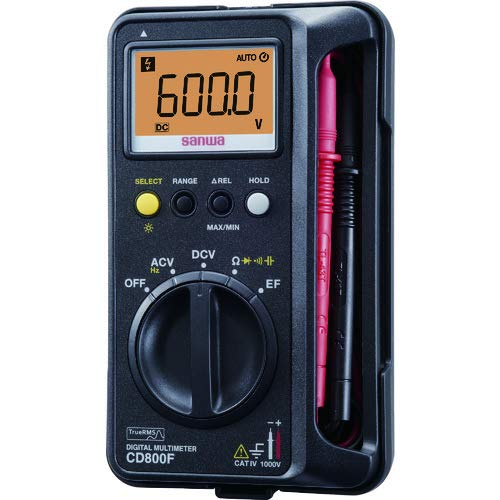 FMUSER SANWA CD800F Digital multimeter Anti-Burst / Drop-proof True RMS Meter Digital Multi Meter Case Integrerad F / S SAL Allt i ett