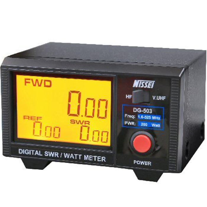 FMUSER NISSEI DG-503 Layar Besar Digital Standing Wave Table 1.6-60MHz / 125-525MHz Power meter 200W