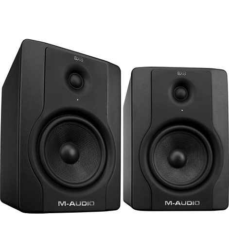 FMUSER Genuine M-Audio BX8 D2 8-Inch Active 2-Way Studio Monitors Speaker A Pair
