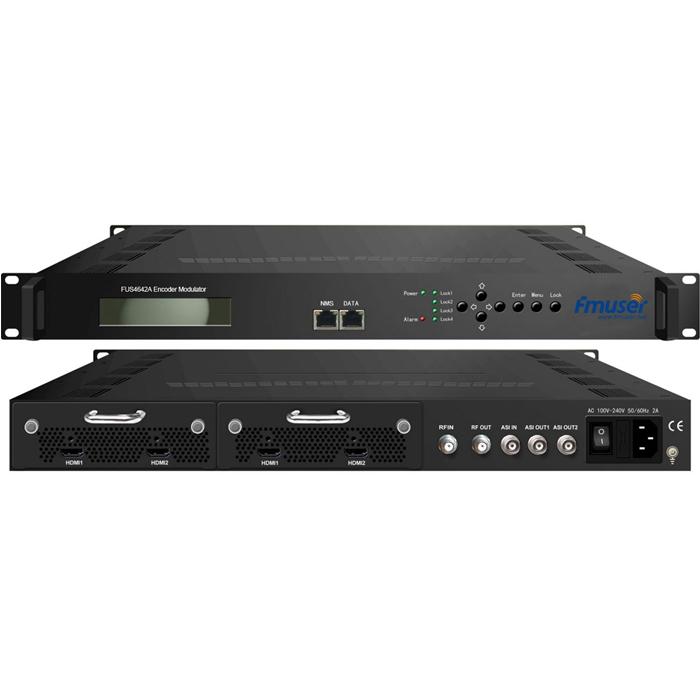 FMUSER FUS4642A MPEG2 HD / MPEG4 HD Encoder Modulator 2-kanaal / 4-kanaal HD na DVB-T