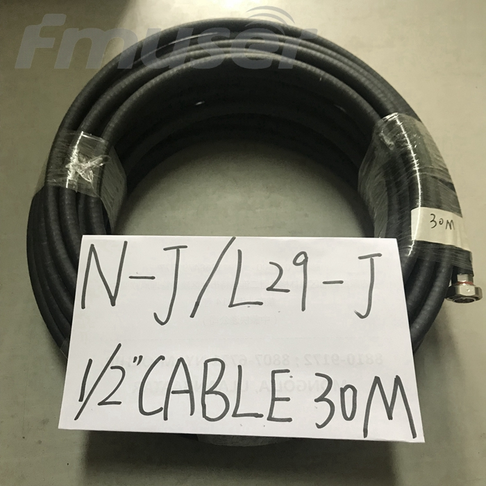 FMUSER 1/2'' RF Cable FM Antenna Feeder Cable Coaxial 30 Meters with N-J L29-J Connector L16 Male -L29 Male Connector