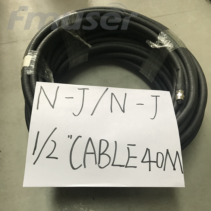 FMUSER 1/2 '' RF-kabel FM-antennevoederkabel Coaxiaal 40 meter met NJ NJ-connector L16 Male-L16 Male Connector