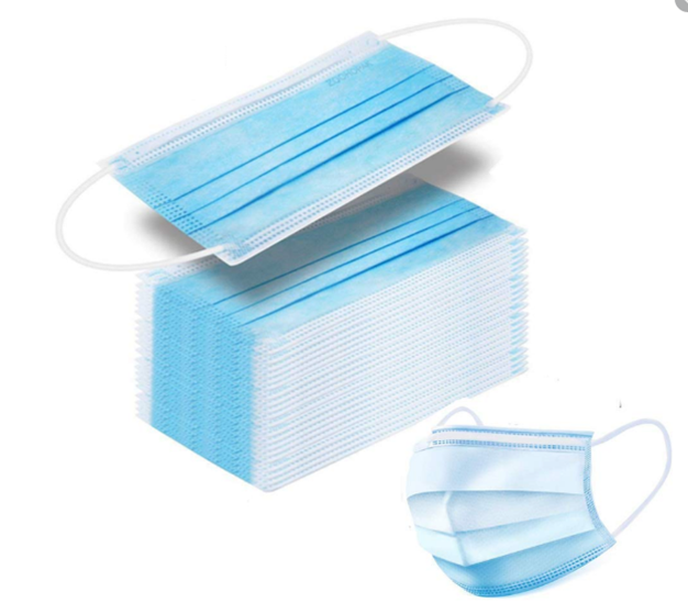 FMUSER 5000 Pcs Face Mask Medical Melt Blown Non-woven Protective Disposable Three-layer Medical Mask Respirator Anti-coronavirus COVID-19