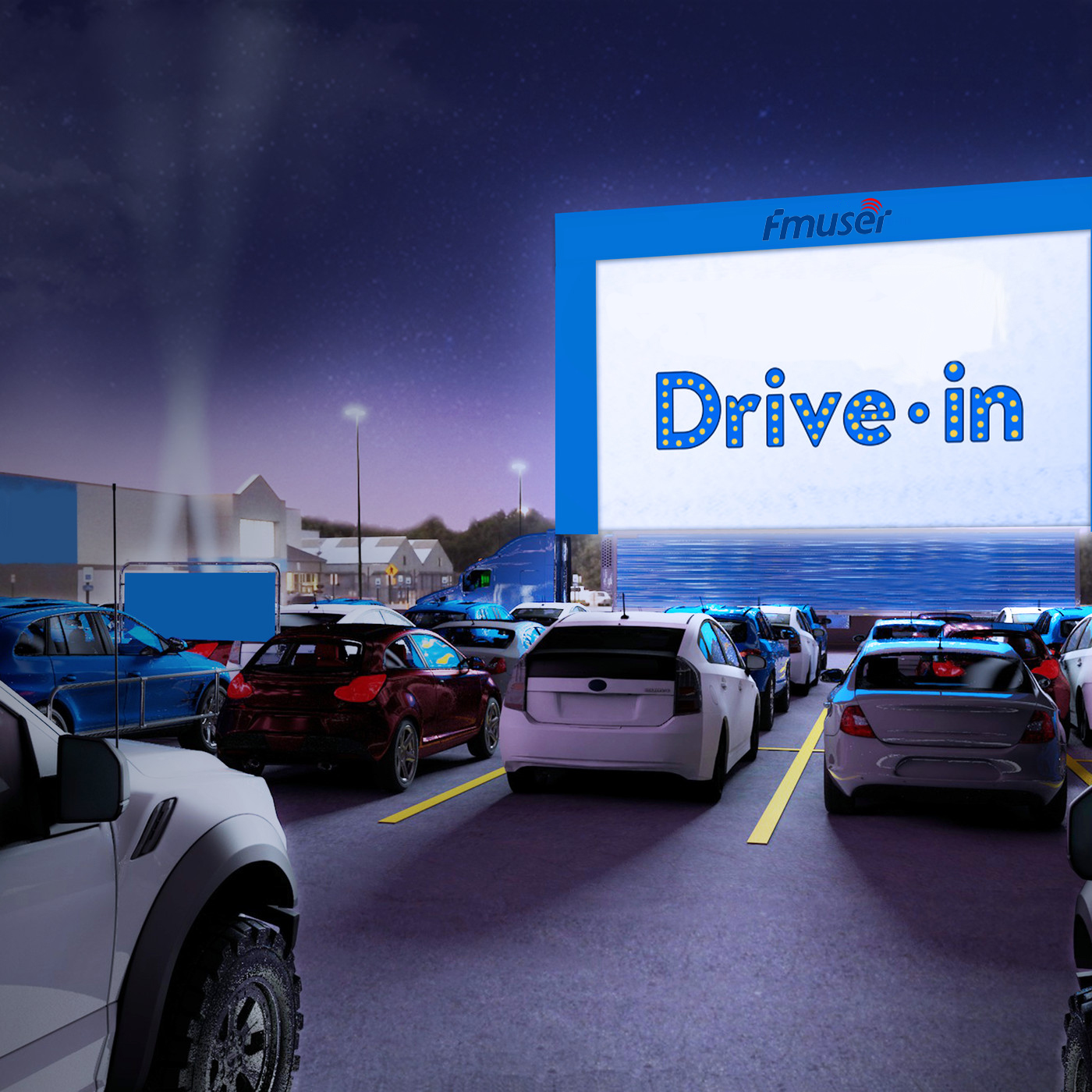 How much does it cost to open a drive-in movie theater?