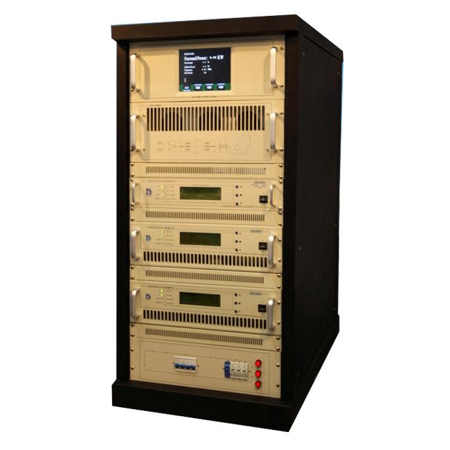 FMUSER FU618F-2KW դարակաշար FM հաղորդիչ Պրոֆեսիոնալ 2KW FM ռադիոհաղորդում քաղաքային ռադիոկայանի երկար լուսաբանման համար + 4 Bay FM-DV1 Dipole Antenna