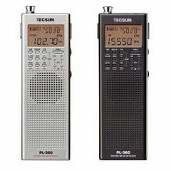 Novo! Receptor de radio Tecsun PL-360 portátil DSP dixital de AM / FM PLL radio de ondas curtas sintetizado PL360