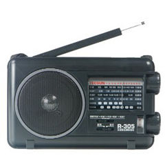 Band TV TECSUN R305 R-305 FM MW SW Radio Portabel Dengan Built-In Speaker