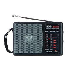 TECSUN R-203T Alta Sensibilidade AM / FM / TV Pocket Radio Receiver altofalante incorporado